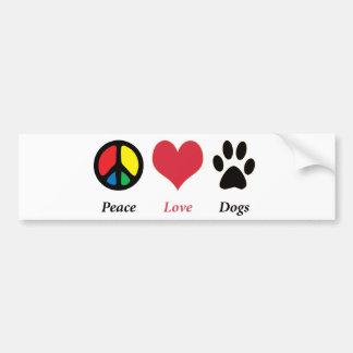 Frieden, Liebe, verfolgt Autoaufkleber