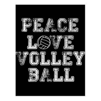 Frieden, Liebe, Volleyball Postkarte