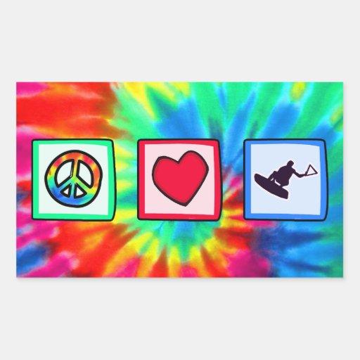 Frieden, Liebe, Wakeboarding Stickers