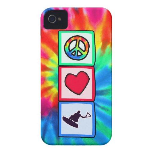 Frieden, Liebe, Wakeboarding iPhone 4 Hülle