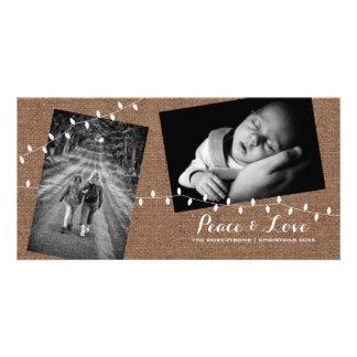 Frieden - Liebe-Weihnachten gestreute Karte