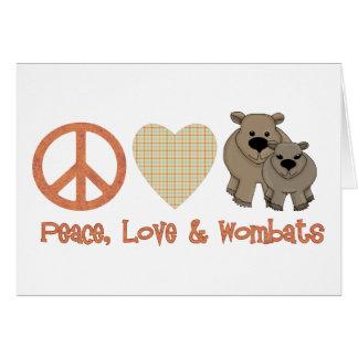 Frieden, Liebe & Wombats Karte