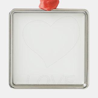 Frieden love34 silbernes ornament