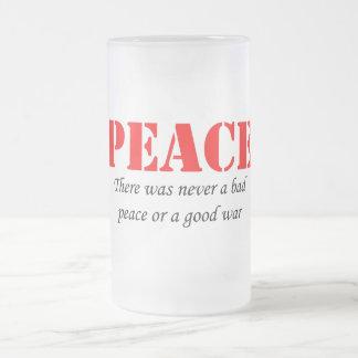 Frieden Mattglas Bierglas
