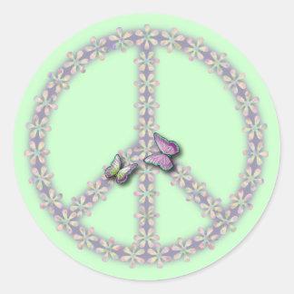 Frieden Runder Aufkleber