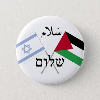 Frieden Salaam Shalom Israels Palästina Runder Button 5,1 Cm