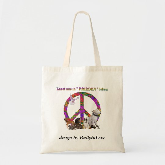 Frieden Tragetasche