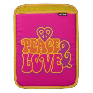 Frieden u. Liebe iPad Sleeve
