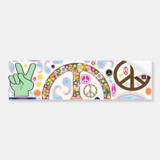 Frieden u. Paisley-Collage Autoaufkleber