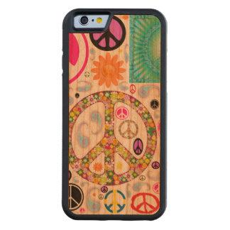 Frieden u. Paisley-Collage Bumper iPhone 6 Hülle Kirsche