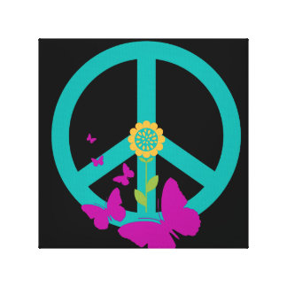 Frieden u. Schmetterlinge Leinwanddruck