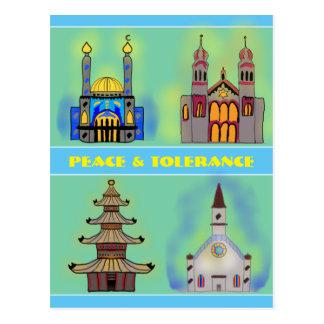 Frieden u. Toleranz Postkarte