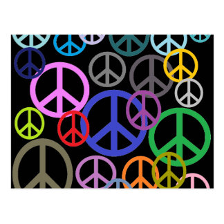 Frieden überall postkarte