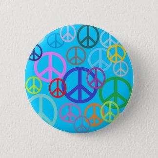 Frieden überall runder button 5,7 cm