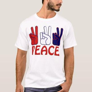 Frieden übergibt den T - Shirt der Zeichen-Männer