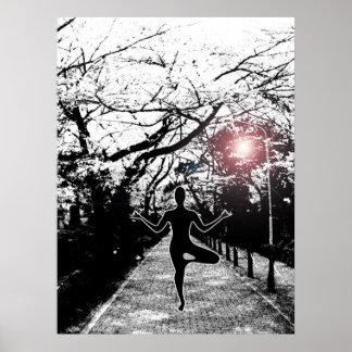 Frieden und Balance - Yoga-Grafik Poster