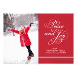 Frieden und Freude der Feiertags-Foto-Karten-| in  Individuelle Einladungskarte