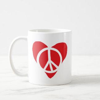 Frieden und Liebe Kaffeetasse