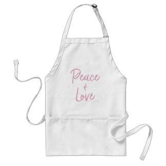 Frieden-und-Liebe-Rosa Schürze
