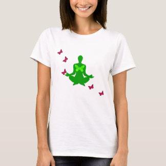 Frieden und Schmetterling - Yoga-Shirts T-Shirt