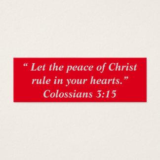 """""""Frieden von Christus"""" kleine Anmerkungen Mini Visitenkarte"""