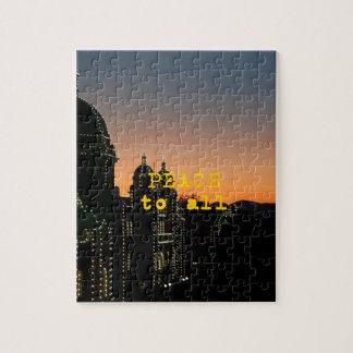Frieden zu allen - Moscheen mit Lichtern Puzzle