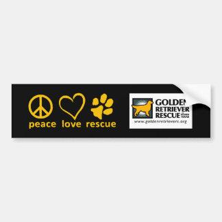 Friedens-/Liebe-/der Rettungs-GRRNT Autoaufkleber