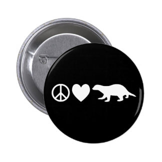 Friedens-, Liebe-u. Honig-Dachse Runder Button 5,1 Cm