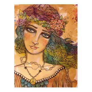 Friedens-, Liebe-und Einheits-Postkarte Postkarte