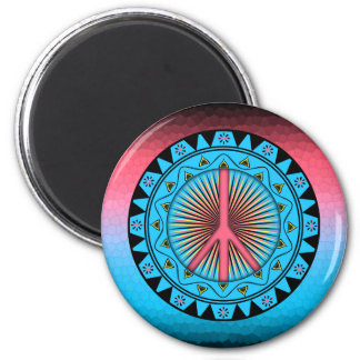 Friedens~ Sun Runder Magnet 5,7 Cm