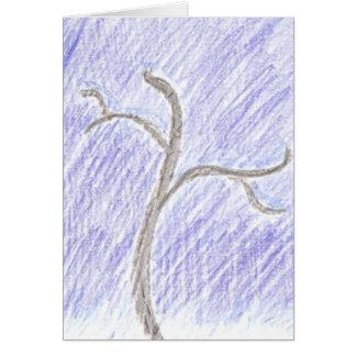 Friedens- u. der Freudeleere Winterurlaubkarte Karte