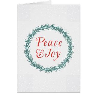 Friedens-u. Freude-Weihnachtskarte Karte