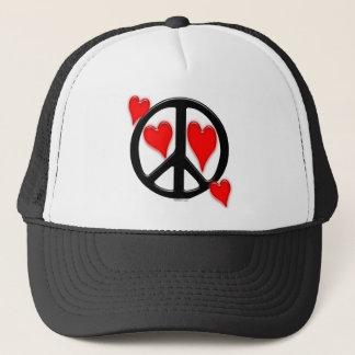 Friedens-u. Liebe-Hut Truckerkappe