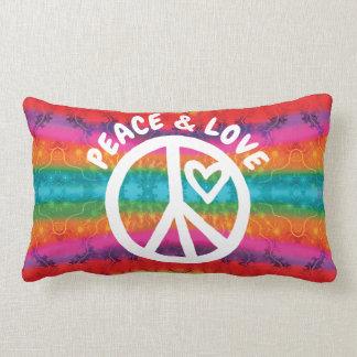 Friedens-und Liebe-Krawatten-Streifen Lendenkissen