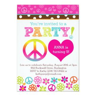 Friedens-und Liebehippie-Party Einladung