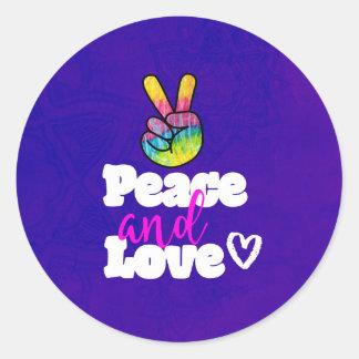Friedens-und Runder Aufkleber
