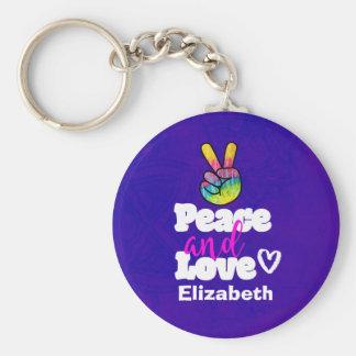 Friedens-und Schlüsselanhänger