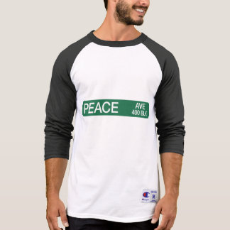 Friedensallee, Verkehrsschild, Texas, USA T-Shirt