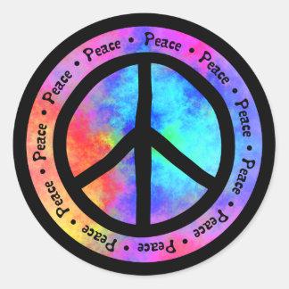 Friedensaufkleber Runder Aufkleber