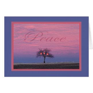 Friedensbaum-Gruß-Karte mit Persimonen Karte
