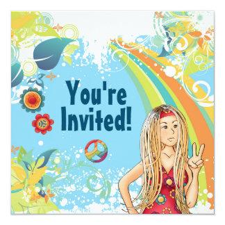 Hippie Party Einladungen | Zazzle.de, Einladung