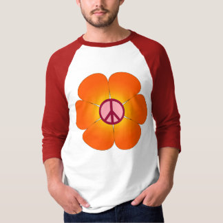 FriedensBlume Raglant-stück T-Shirt