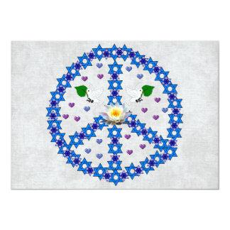 Friedensdavidsstern 12,7 X 17,8 Cm Einladungskarte