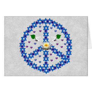 Friedensdavidsstern Grußkarte