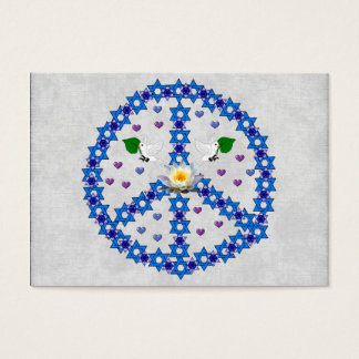 Friedensdavidsstern Jumbo-Visitenkarten