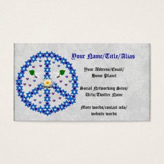 Friedensdavidsstern Visitenkarte