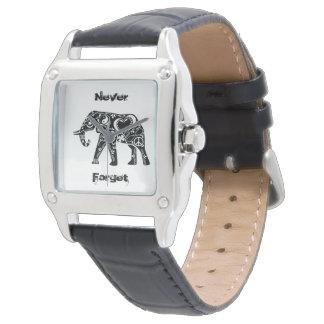 Friedenselefant Armbanduhr