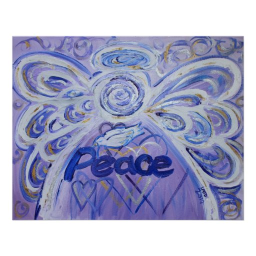 Friedensengels-Kunst-Plakat-Druck