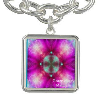 Friedensengels-Mandala-Entwurf durch Alsie Lehm Charm Armband
