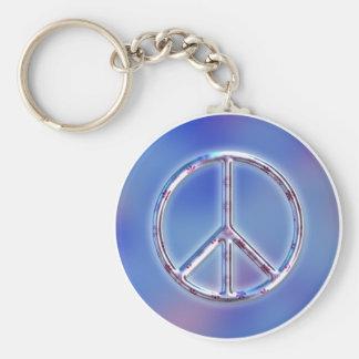 Friedensentwurf 2 standard runder schlüsselanhänger